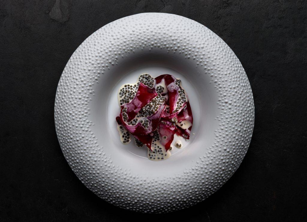 Betterave, sauce caviar Osciètre@LopezDeZubiria