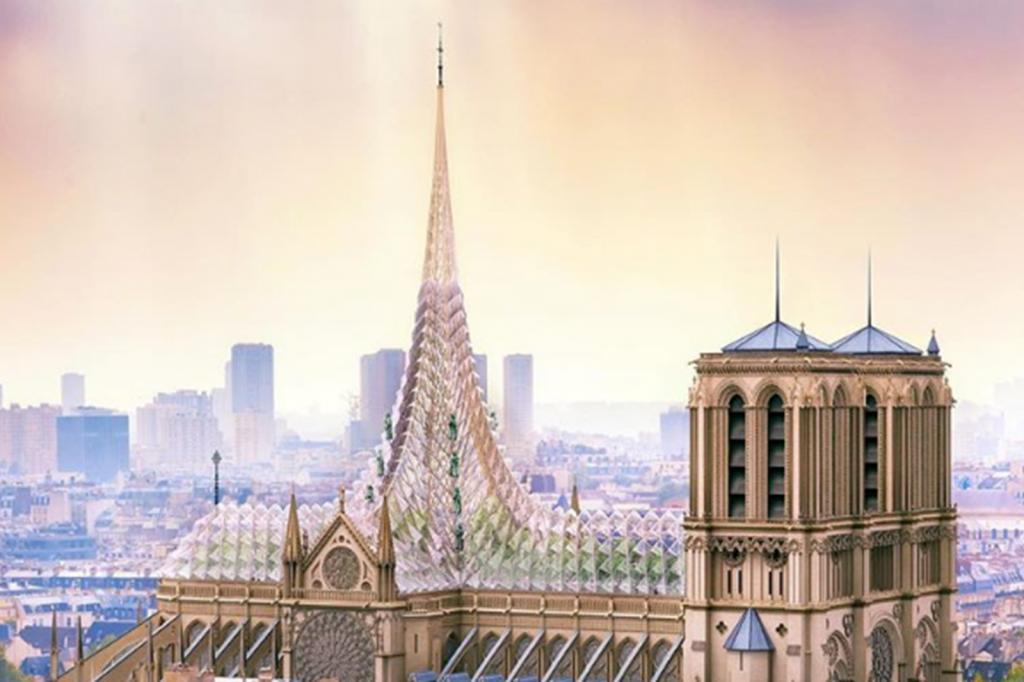 Notre-Dame Entwurf für den Wiederaufbau_Büro Vincent Caillebaut