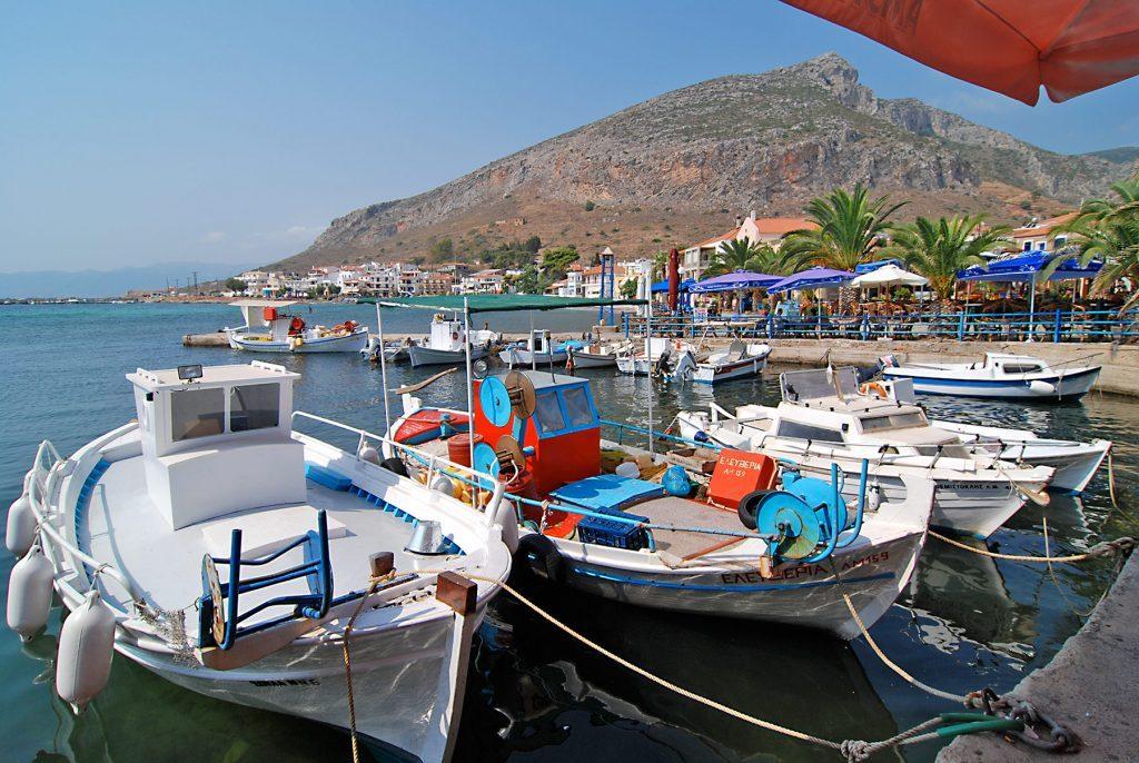 Gefira, der Hafen von Monemvasia
