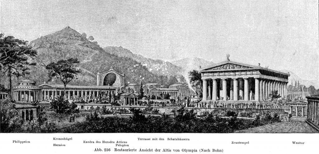 Ansicht der Olympischen Anlage um 1900